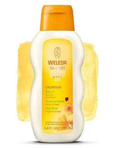 Weleda Aceite de Caléndula 200 ml, hidratación para después del baño o suave masaje
