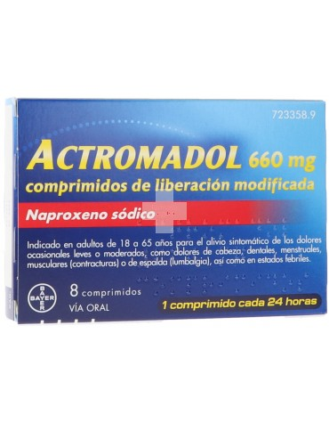Actromadol 660 Mg 8 Comprimidos