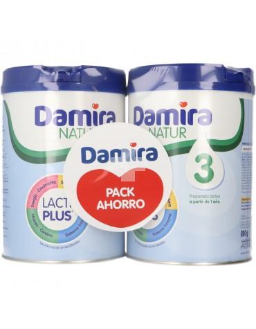 Damira Natur Pack Ahorro 3 Crecimiento 2x800 gramos