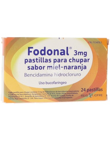Fodonal 3 mg Pastillas Miel-Naranja