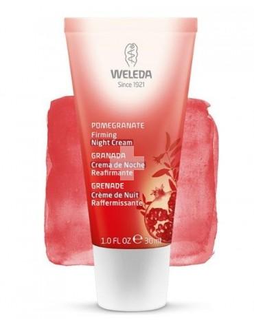 Weleda Crema de Noche Reafirmante de Granada 30 ml, antiarrugas, reduce líneas y activa la regeneración
