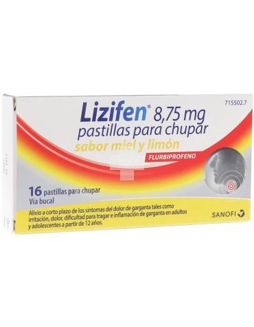 LIZIFEN 8,75 MG PASTILLAS PARA CHUPAR SABOR Miel y Limón 16 pastillas