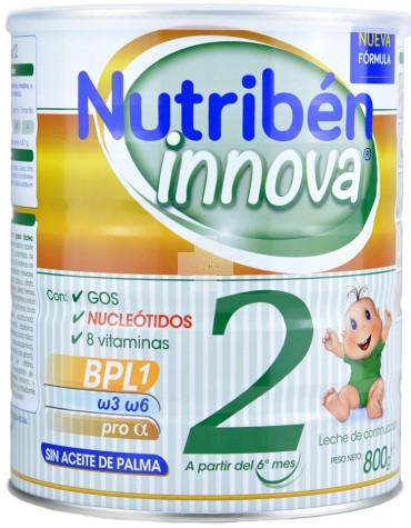 Nutribén Innova 2 leche completa y equilibrada, sin aceite de palma para bebés de más de 6 meses