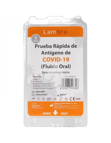 Test Antígenos Covid 19 por Fluido Oral
